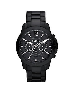 Fossil Men's Grant Chronograph Black Dial Watch