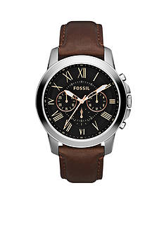 Fossil Men's Grant Brown Leather Watch