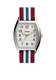 Fossil® Men's Multi-Color Nylon Narrator Three-Hand Watch