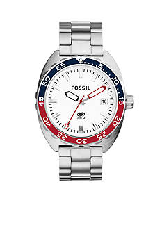 Fossil Breaker Three-Hand Date Stainless Steel Watch