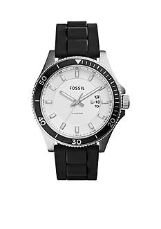 Fossil Men's Wakefield Three-Hand Black Silicone Watch