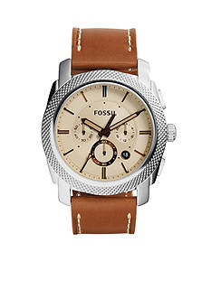 Fossil Men's Machine Brown Leather Chronograph Watch