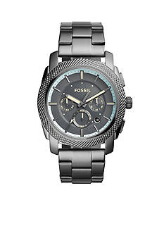 Fossil Watches Men's Machine Chronograph Gunmetal Stainless Steel Watch