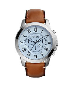 Fossil Men's Grant Light Brown Chronograph Watch