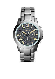 Fossil Men's Grant Stainless Steel Gunmetal Watch