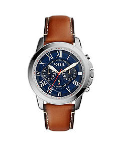 Fossil Men's Grant Light Brown Leather Watch