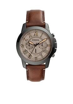 Fossil Men's Grant Dark Brown Leather Watch