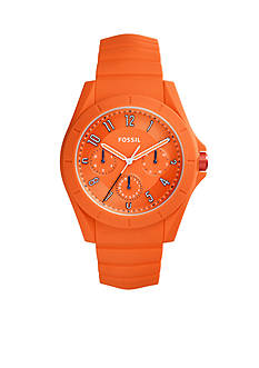 Fossil Men's Poptastic Orange Silicone Watch