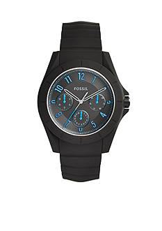 Fossil Men's Poptastic Black Silicone Watch