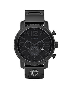 Fossil Gage Plated Stainless Steel Watch - Black