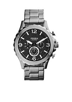 Fossil® Men's Stainless Steel Nate Chronograph Watch