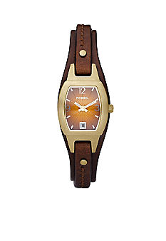 Fossil® Skinny Cuff Brown Dial Watch