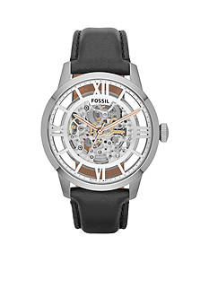 Fossil Townsman Automatic Black Leather Watch