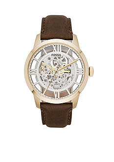 Fossil Men's Townsman Automatic Brown Leather Watch