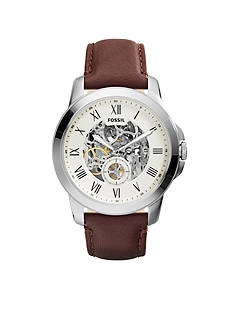 Fossil Men's Brown Leather Grant Mechanical Automatic Watch
