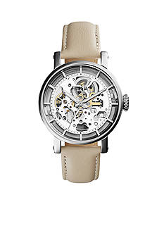 Fossil Original Boyfriend Mechanical White Leather Watch