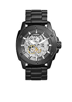 Fossil Modern Machin Black IP Stainless Steel Automatic Watch