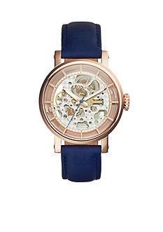 Fossil Original Boyfriend Blue Leather Strap Automatic Watch