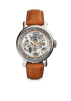Fossil Women's Original Boyfriend Brown Leather Strap Automatic Watch