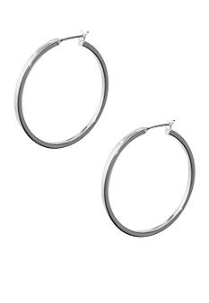 Anne Klein Medium Silver Hoop Earring