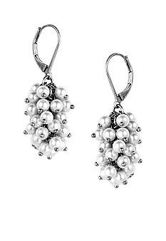 Anne Klein Shaky Pearl Drop Earrings