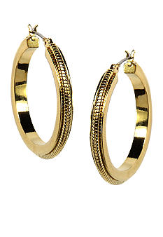 Anne Klein Gold Tone Hoop Earrings