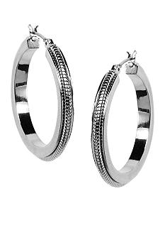 Anne Klein Silver Hoop Earrings