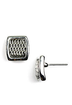 Anne Klein Silver Mesh Earrings