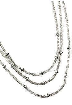 Anne Klein Silver Tone Multi Row Necklace