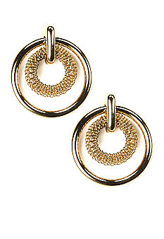 Anne Klein Gold Circle Earrings