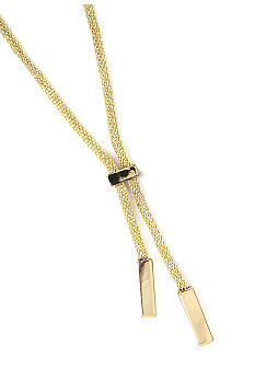 Anne Klein Gold Mesh Y-Necklace