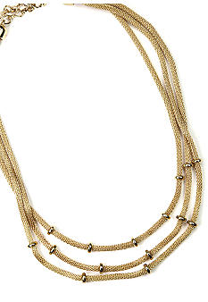 Anne Klein Gold Tone Multi Row Necklace