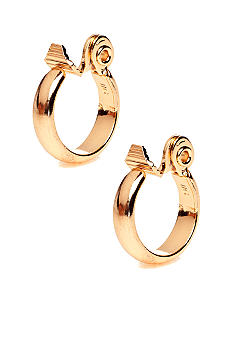 Anne Klein Gold Clip Hoop Earrings