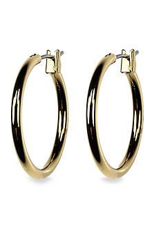 Anne Klein Gold Tone Hoop Earring