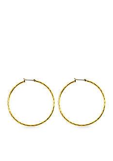 Anne Klein Gold-Tone Hoop Earring