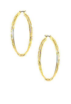 Anne Klein Medium Gold Twisted Hoops