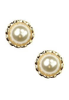 Anne Klein Pearl Clip Earrings