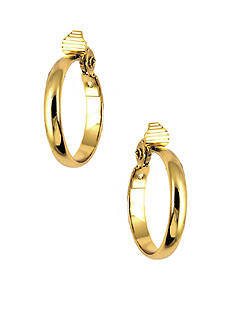 Anne Klein Gold-Tone Clip Hoop Earrings