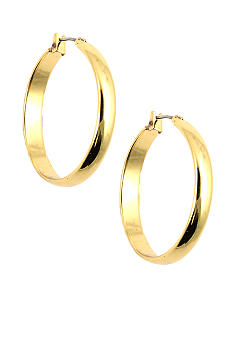 Anne Klein Medium Gold Hoop Earrings