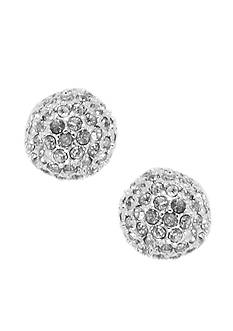 Anne Klein Crystal Fireball Stud Earrings
