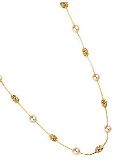 Anne Klein Champagne Pearl and Fireball Illusion Necklace