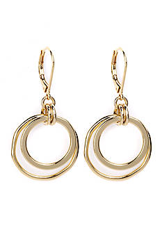 Anne Klein Gold-Tone Orbital Drop Earrings