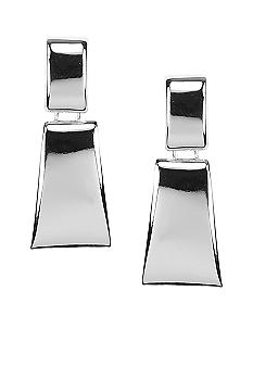 Anne Klein Silver Rectangular Drop Earring