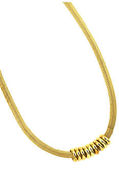 Anne Klein Gold Mesh Collar Necklace