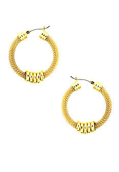 Anne Klein Gold Mesh Click-it Hoops