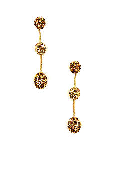 Anne Klein Linear Topaz Fireball Earring