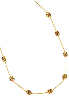 Anne Klein Gold Topaz Illusion Necklace