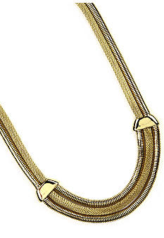Anne Klein Gold Frontal Necklace