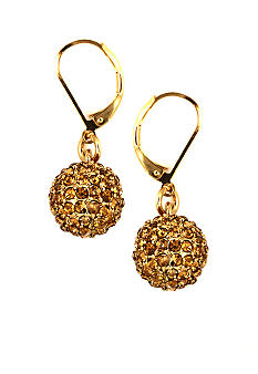 Anne Klein Gold Topaz Fireball Earrings