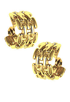 Anne Klein Gold Hoop Clip Earrings